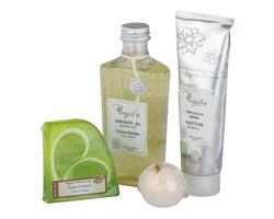 Kosmetická sada s vůní citrusů BOEMI LEMON SET - limetkově zelená