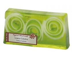 Křišťálové mýdlo Boemi CRISTALLO s vůní višně v dárkové krabičce - limetkově zelená