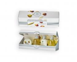 Olivová kosmetická sada OLIVE SET v dárkovém balení, 4 komponenty - bílá