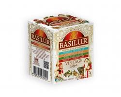 Kolekce aromatizovaných černých a zelených čajů Basilur LITTLE VINTAGE, 10 sáčků