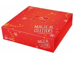 Kolekce zelených a černých čajů Thurson MAGICAL GLITTERS RED, 16 čajových sáčků - červená