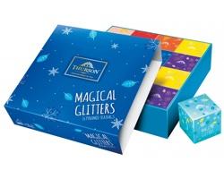 Kolekce zelených a černých čajů Thurson MAGICAL GLITTERS BLUE, 16 sáčků - modrá