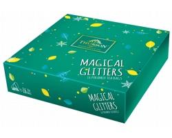 Kolekce zelených a černých čajů Thurson MAGICAL GLITTERS GREEN, 16 sáčků - zelená