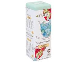 Mátový čaj TEALIA MINT v plechovkové dóze, 15 sáčků - světle modrá