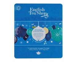 Luxusní plechová kazeta čajů WINTER COLLECTION, 72 sáčků - modrá