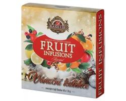 Vánoční kolekce ovocných čajů Basilur CHRISTEA, 40 čajových sáčků
