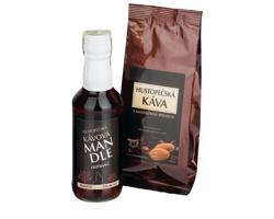 Sada hustopečské kávy a likéru kávové mandle KÁVA SET v dárkové kazetě