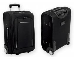 Polyesterový kufr na kolečkách TOBAGO - šedá