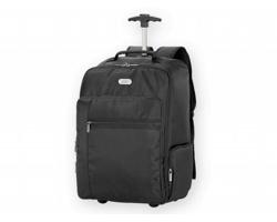 Polyesterový batoh na kolečkách ALOR s prostorem na notebook - černá