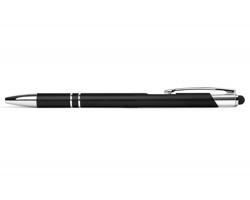 AKCE: Kovové kuličkové pero BIRMINGHAM TOUCH se stylusem - černá