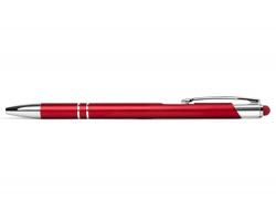AKCE: Kovové kuličkové pero BIRMINGHAM TOUCH se stylusem - červená