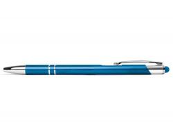 AKCE: Kovové kuličkové pero BIRMINGHAM TOUCH se stylusem - modrá