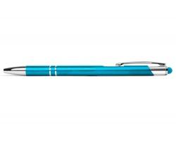 AKCE: Kovové kuličkové pero BIRMINGHAM TOUCH se stylusem - tyrkysová