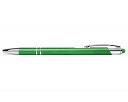 AKCE: Kovové kuličkové pero BIRMINGHAM TOUCH se stylusem - světle zelená