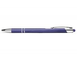 AKCE: Kovové kuličkové pero BIRMINGHAM TOUCH se stylusem - fialová