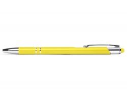 AKCE: Kovové kuličkové pero BIRMINGHAM TOUCH se stylusem - žlutá