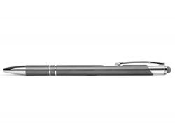 AKCE: Kovové kuličkové pero BIRMINGHAM TOUCH se stylusem - šedá