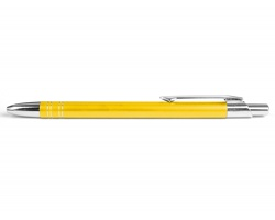 AKCE: Kovové kuličkové pero GLASGOW - žlutá