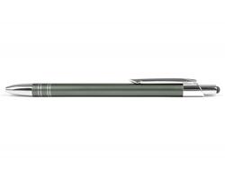 AKCE: Kovové kuličkové pero GLASGOW TOUCH se stylusem - světle šedá