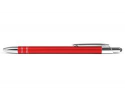 AKCE: Kovové kuličkové pero GLASGOW TOUCH se stylusem - červená