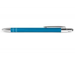 AKCE: Kovové kuličkové pero GLASGOW TOUCH se stylusem - modrá