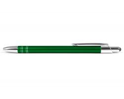 AKCE: Kovové kuličkové pero GLASGOW TOUCH se stylusem - zelená