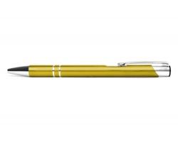 AKCE: Kovové kuličkové pero LONDON - žlutá metalická
