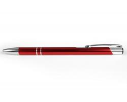AKCE: Kovové kuličkové pero LONDON SLIM - červená