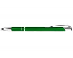AKCE: Kovové kuličkové pero LONDON SLIM TOUCH se stylusem - zelená