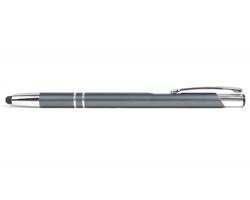 AKCE: Kovové kuličkové pero LONDON SLIM TOUCH se stylusem - šedá