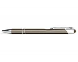 AKCE: Kovové kuličkové pero LONDON TOUCH se stylusem - světle šedá