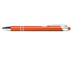 AKCE: Kovové kuličkové pero LONDON TOUCH se stylusem - oranžová
