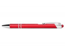 AKCE: Kovové kuličkové pero LONDON TOUCH se stylusem - červená