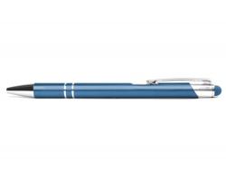 AKCE: Kovové kuličkové pero LONDON TOUCH se stylusem - modrá