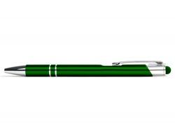 AKCE: Kovové kuličkové pero LONDON TOUCH se stylusem - zelená