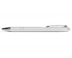 AKCE: Kovové kuličkové pero LONDON TOUCH se stylusem - bílá