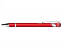 AKCE: Kovové kuličkové pero LEICESTER - červená