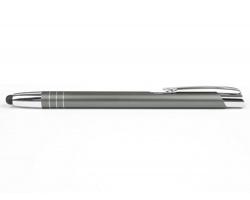 AKCE: Kovové kuličkové pero LIVERPOOL TOUCH se stylusem - světle šedá