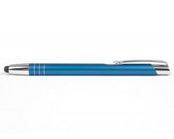 AKCE: Kovové kuličkové pero LIVERPOOL TOUCH se stylusem - modrá