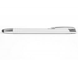 AKCE: Kovové kuličkové pero LIVERPOOL TOUCH se stylusem - bílá