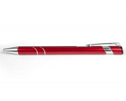 AKCE: Kovové kuličkové pero LEEDS - červená