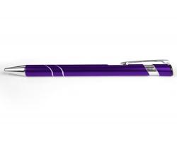 AKCE: Kovové kuličkové pero LEEDS - fialová