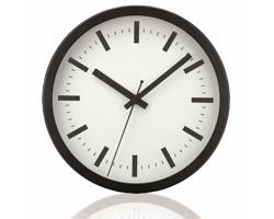 Hliníkové nástěnné hodiny FRENCH s tichým chodem ručiček - bílábílá