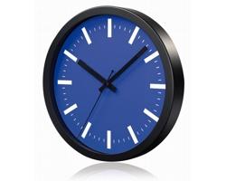 Hliníkové nástěnné hodiny FRENCH s tichým chodem ručiček - modrá