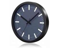Hliníkové nástěnné hodiny FRENCH s tichým chodem ručiček - šedá