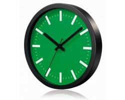 Hliníkové nástěnné hodiny FRENCH s tichým chodem ručiček - zelená