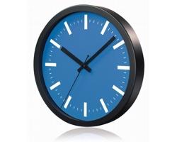 Hliníkové nástěnné hodiny FRENCH s tichým chodem ručiček - světle modrásvětle modrá