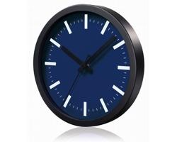 Hliníkové nástěnné hodiny FRENCH s tichým chodem ručiček - tmavě modrá