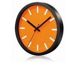 Hliníkové nástěnné hodiny FRENCH s tichým chodem ručiček - oranžová