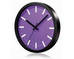 Hliníkové nástěnné hodiny FRENCH s tichým chodem ručiček - fialová